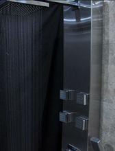 Brush and anti-finger print shower panel