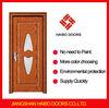 High quality Interior PVC laminated MDF wooden glass door (HW-023B)