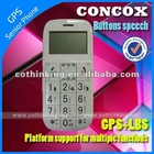 GPS elderly cell phone with big button and easy operation gps tracker blind person