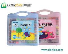 60 colors plastic oil pastel set