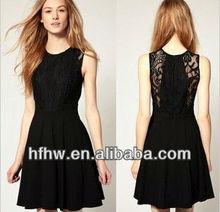 2013 Hepburn classic black bud silk dress the waist Europe and Amarica