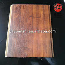wood laminated pvc ceiling panel decoration