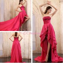special 2013 new design red hi-lo dance wear
