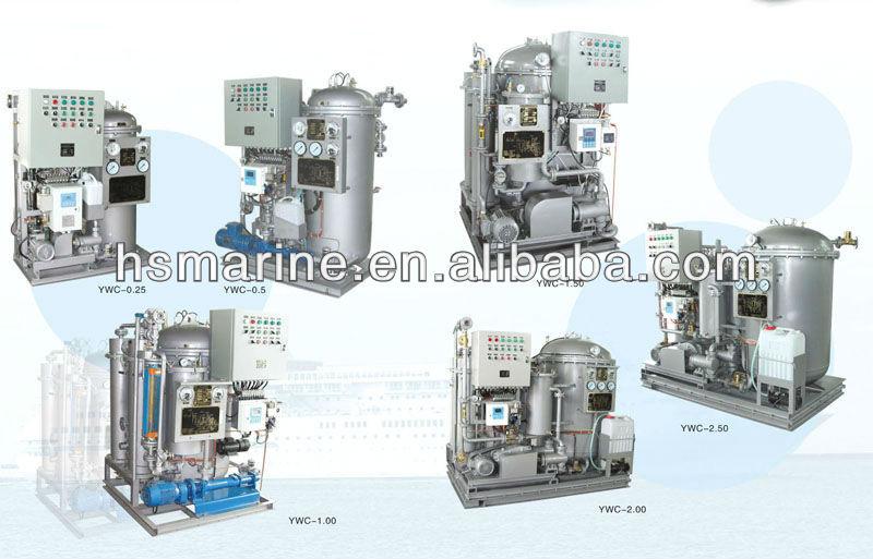 Separador de água do óleo separador de água do óleo marinha navio fábrica