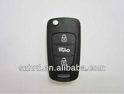 KIA RIO 3 buttons modified flip key shell and car key blank