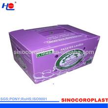 Plastic Corrugated Vegetable Carton Box