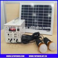 10w Solar Kit for LED Lighting,DC fan,mobile phone charging,solar panel+battery+solar controller