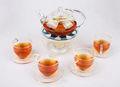Beliebte stilvolle high double-layer-glas tee set