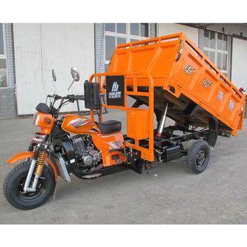 Hydraulic dumping 3 wheel motorcycle