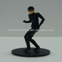 OEM ABS game action figure toy woman with mask