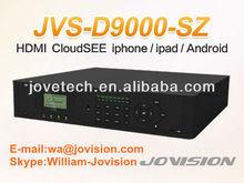 H.264 16ch FullD1 HDMI dual stream PTZ control 3G iPhone, iPad, Android Phone,Mac/Windows PC,laptop network security DVR