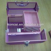 Exquisite customize Transparent Purple acrylic panel Acrylic Cosmetic Case