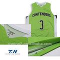 Malla de camisetas de baloncesto, personalizar la llanura de baloncesto reversible