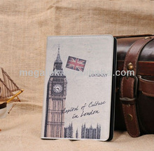 City symbol style stand folio leather case for ipad mini, for ipad case printing custom