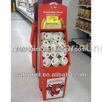 hobby material cardboard display retail store fixture