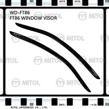 For Toyota FT-86 Windows Visor, Window Deflectors