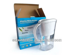 Water pitcher with filter activated carbon
