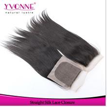 Virgin brazilian hair closure 4x4,silk top lace closure