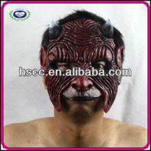 Latex Halloween Animal Wrinkle Red Ox Head Mask