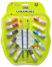 W9206 craft 12 colors 6ml watercolor paint set blister card set
