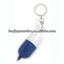 capsule pen with keyring