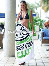 factory direct 100% microfiber printed beach brand towel