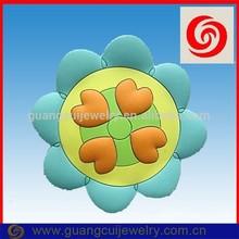 fashion soft pvc round flower fridge magnet with logo