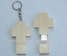 Gifts Wooden Crossing USB flash drive , USB Crossing wood (PY-U-128)