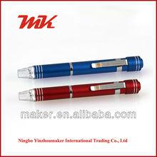 NPL MF1046 Promotion LED Pen Shape Lighted 6 Bits Pocket Screwdriver