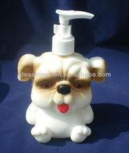 OEM 500ml vinly cartoon figure shampoo bottle dog