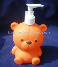 OEM 500ml vinly cartoon figure shampoo bottle bear