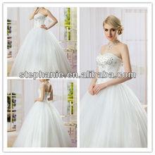 2013 Sweetheart Neckline Graceful Necklace Charming Bridal Wedding Dress