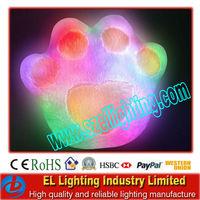 LED glowing pillow bear paw sahped led gift