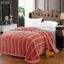 blanket printed and embossed 100% polyester