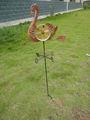 gallo de metal la decoración del jardín palo animados veleta