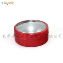 dongguan round windowed aluminum candle tin can exporter