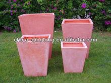 2014 Pink Clay Pots Flower Planter Square Planter Pot Urns 4pcs/set 50inch Unique Design