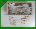 Artesanías de animación piezas/de navidad de madera de los animales