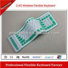 2.4g silicon flexible wireless keyboard usb