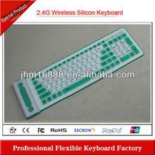 2.4g silicon flexible slim wireless keyboard