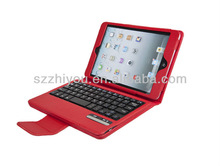Folding Leather Case for iPad Mini with Removable Wireless Bluetooth Keyboard