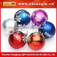 7CM Plastic Christmas Ball with snowflake