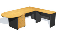 modern office desk-P End with return