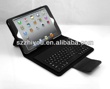 Hot sale keyboard cover for ipad mini ,leather bluetooth keyboard cover for ipad mini