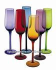 colored champagne glass