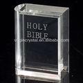 Optischen kristall christian kristallgeschenk/bibel