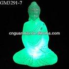 Glass Buddha with led light