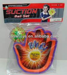 Hand Suction ball catch game, suction cup balls