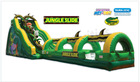 inflatable game jumping castle outdoor PVC jungle water slide 2 parts combined from Leisure Activities China