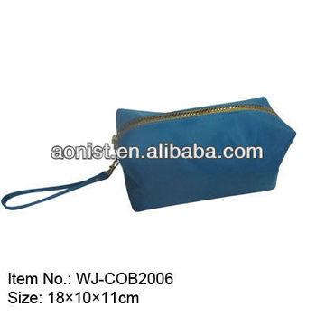 blue big school pen bag with zipper